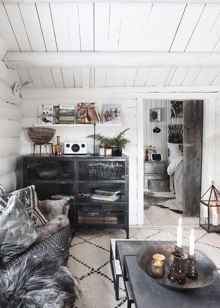salon chalet maison campagne chic