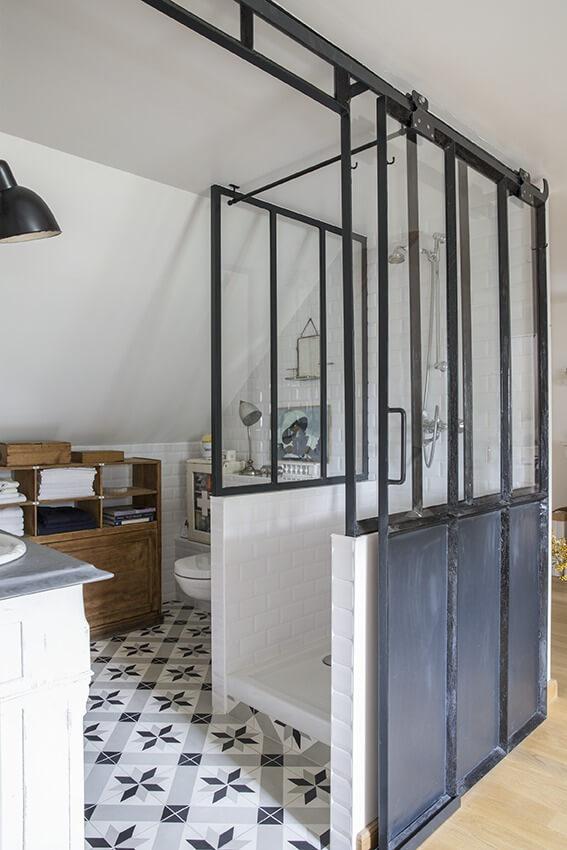 salle de bain maison dans une maison de charme en Normandie