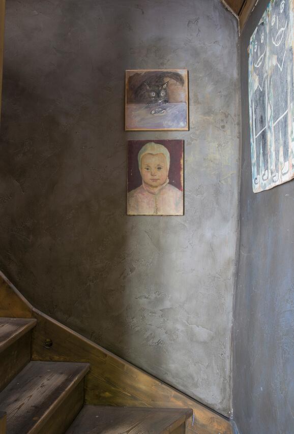Tableau peinture maison-atelier
