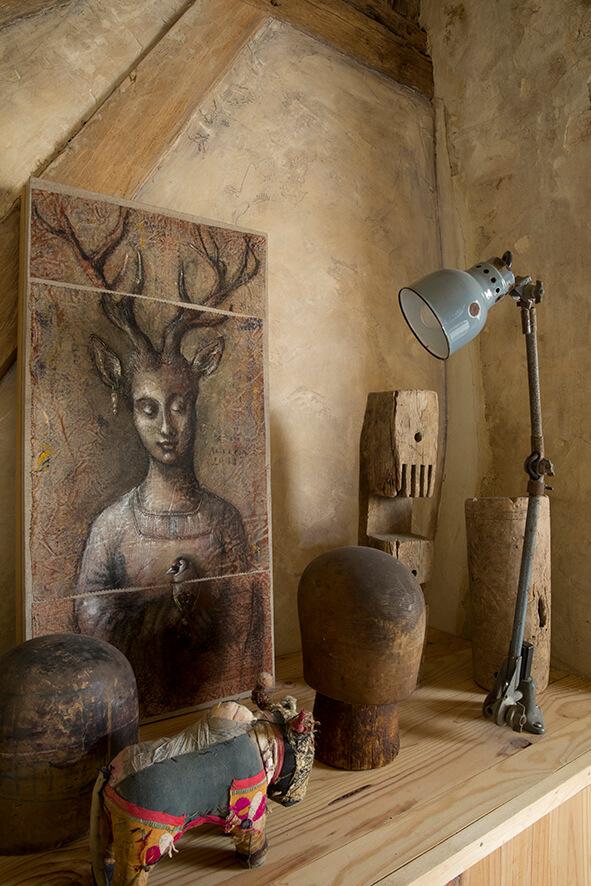 Tableau peinture maison authentique
