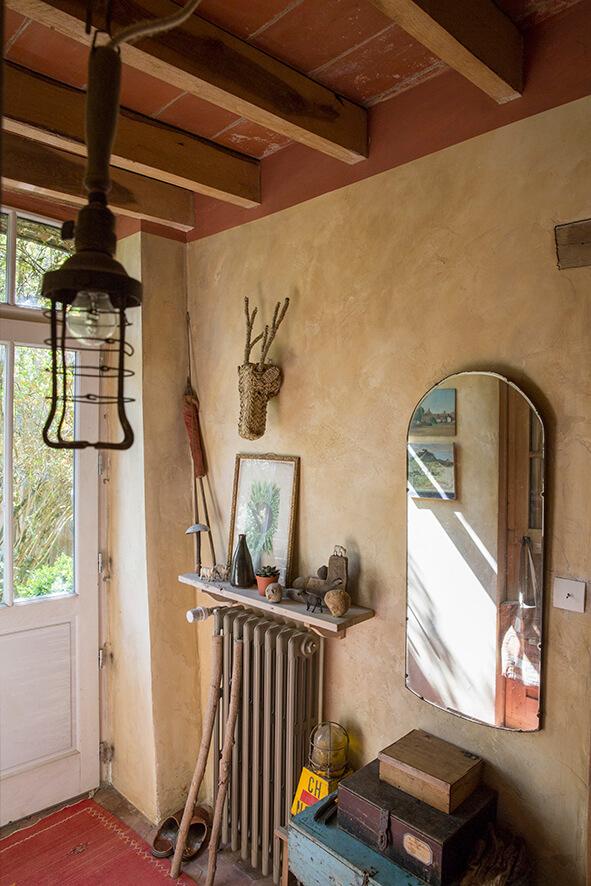 Porche maison authentique