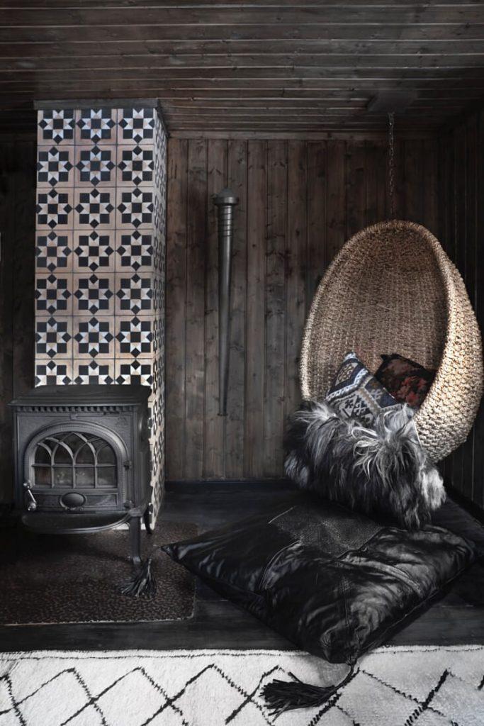 salon chalet cosy
