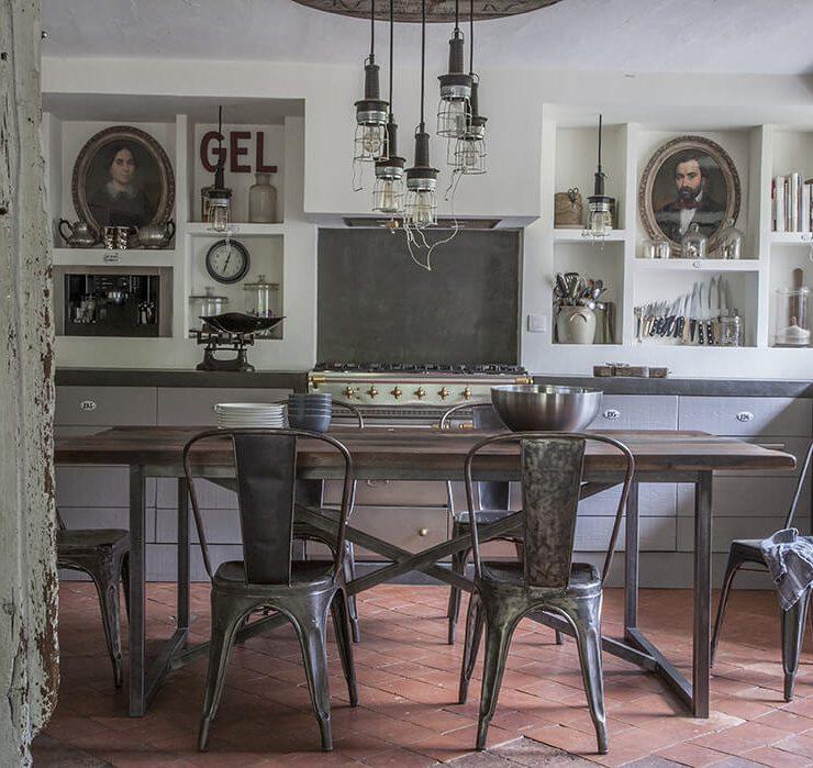 salon maison de campagne chic