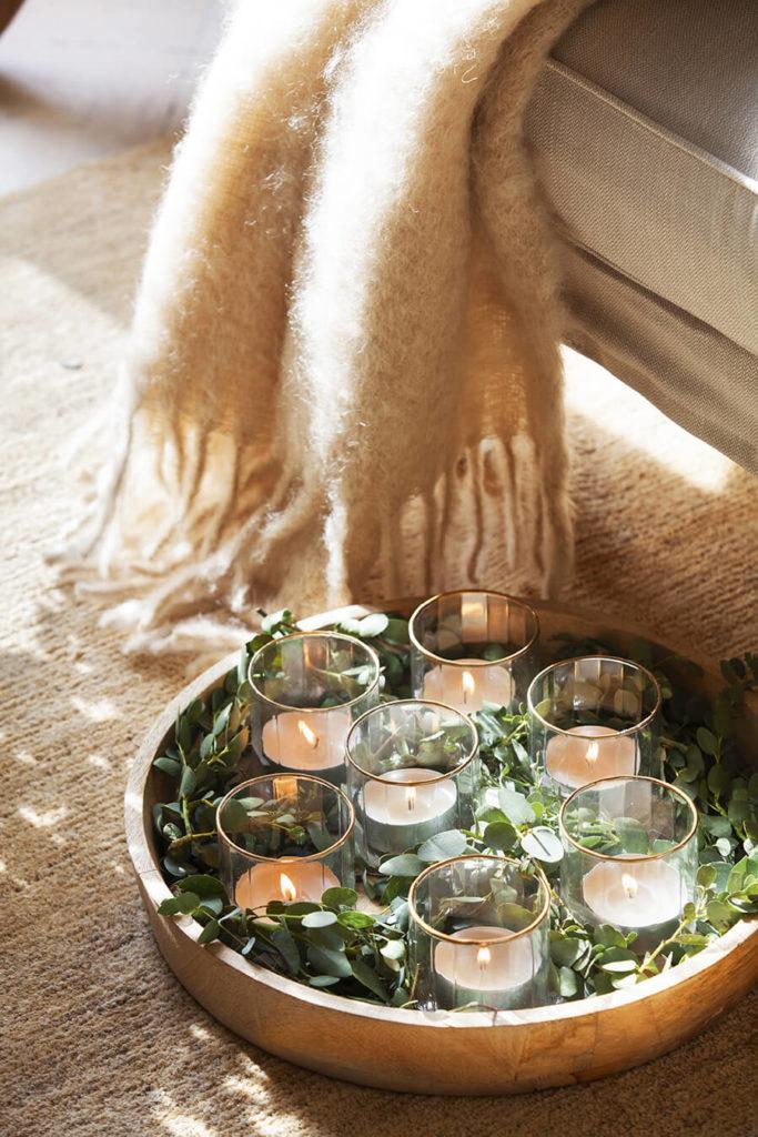Bougies de décoration de Noël
