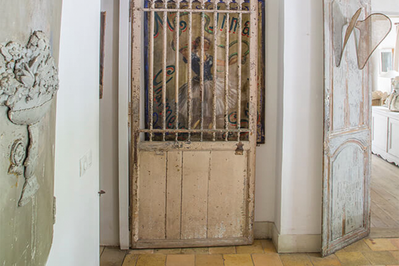 Porte en bois maison campagne décoration style gustavien