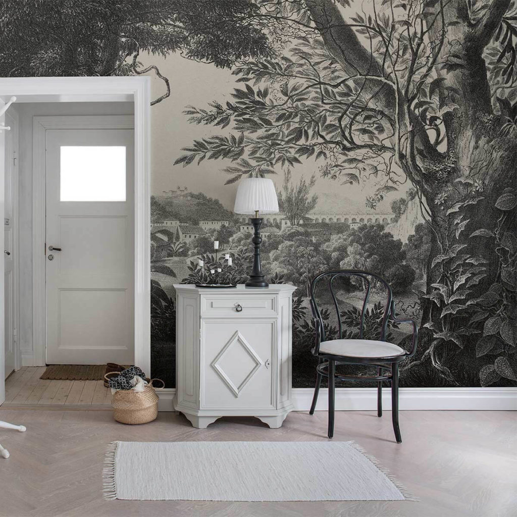 Papier Peint Panoramique Noir Et Blanc idée déco murale : le papier peint panoramique ! - maisons