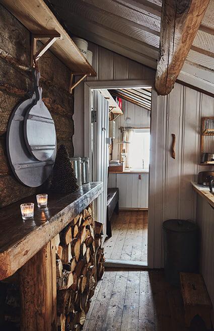 Déco de bois dans un chalet au style rustique chic