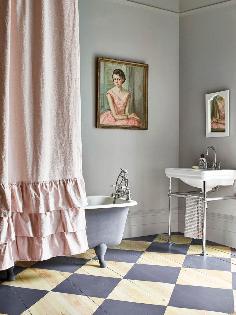 peinture sol salle de bain