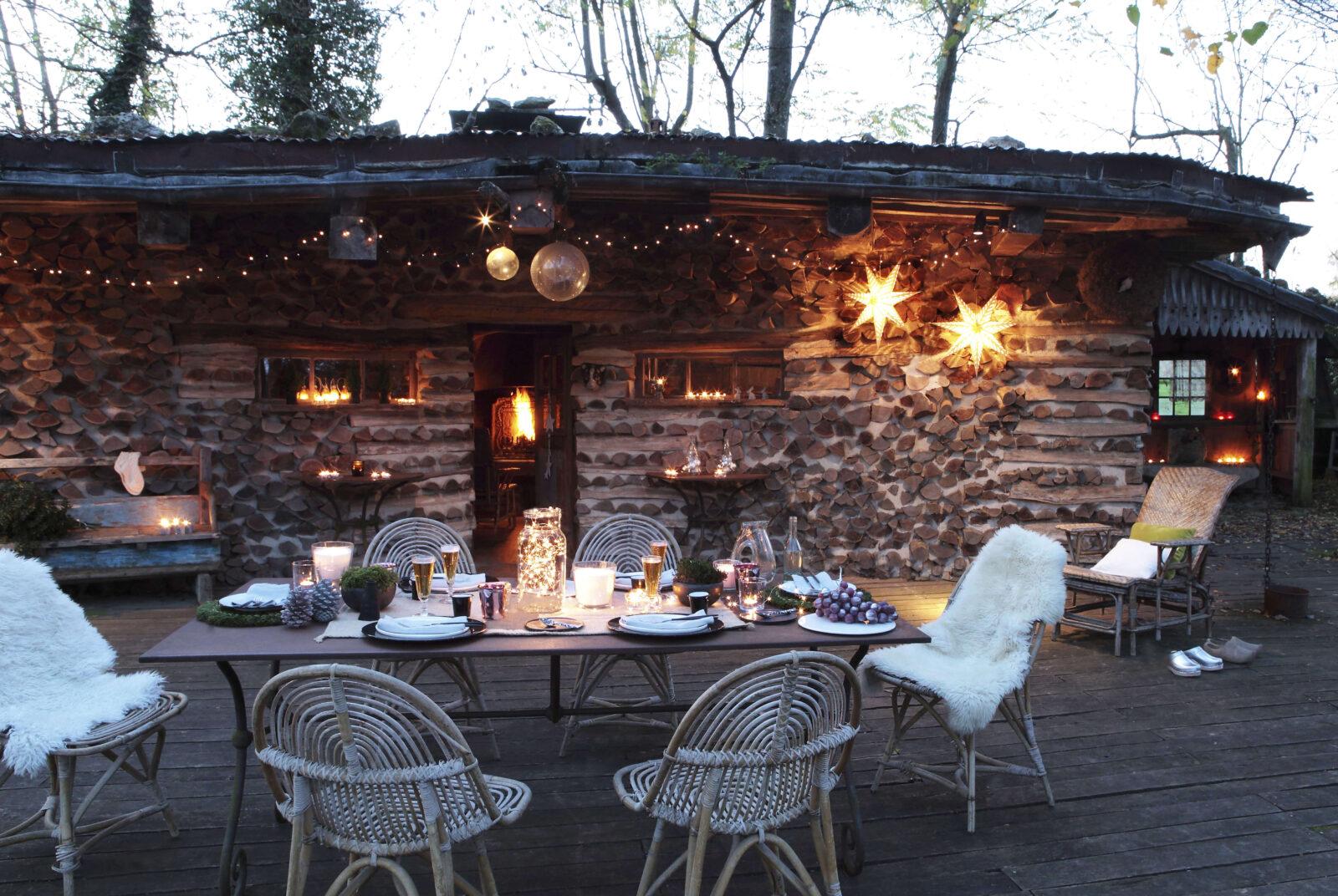 cabane de Noël en bois