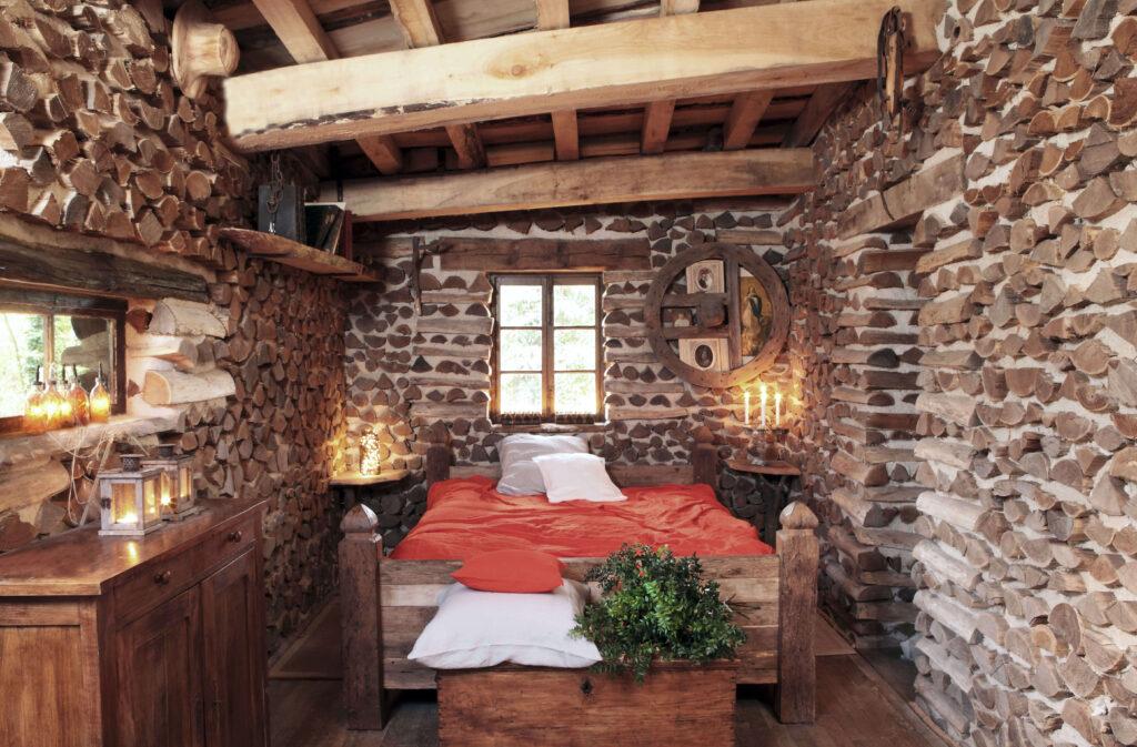 chambre cabane de Noël en bois