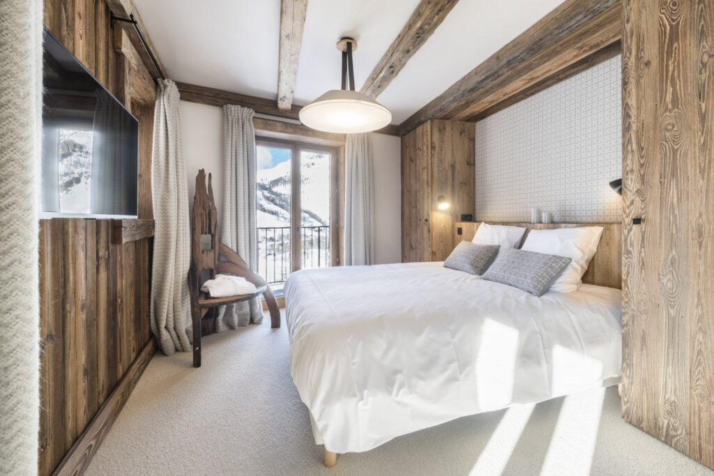 chambre chalet chic