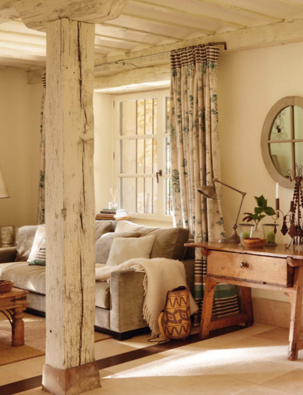 salon maison montagnarde
