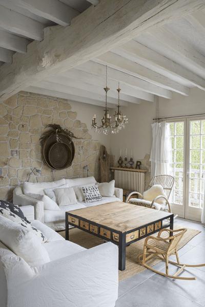salon style maison normande