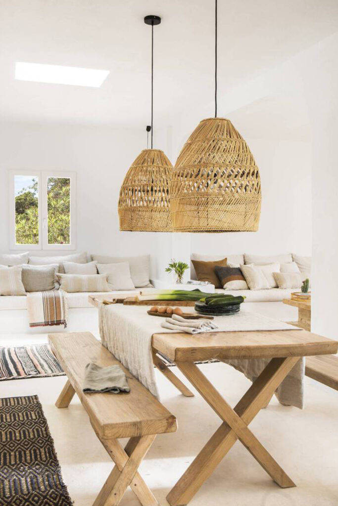salle à manger style maison méditerranéenne