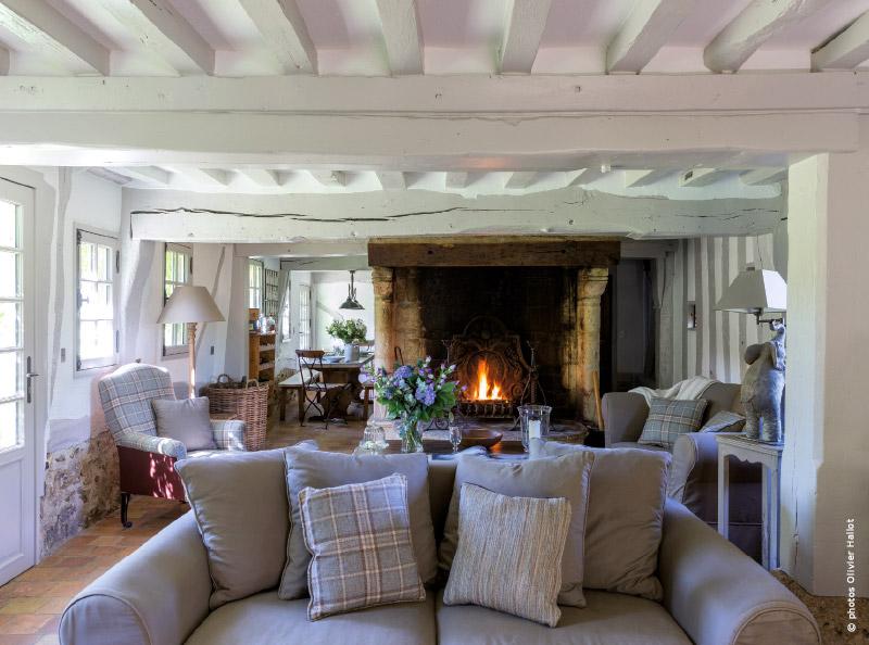 cottage décoration salon