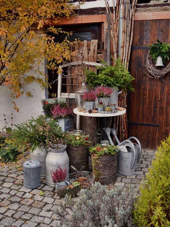 pot zinc jardin