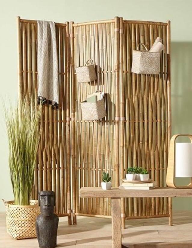 idées de paravents en bambou