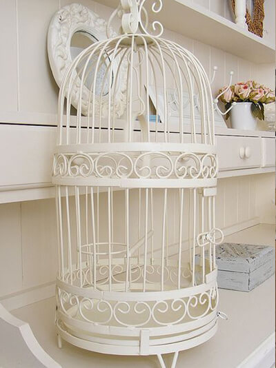 cage d'oiseaux décoshabby chic