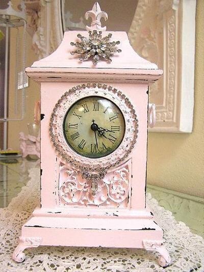 horloge déco shabby chic
