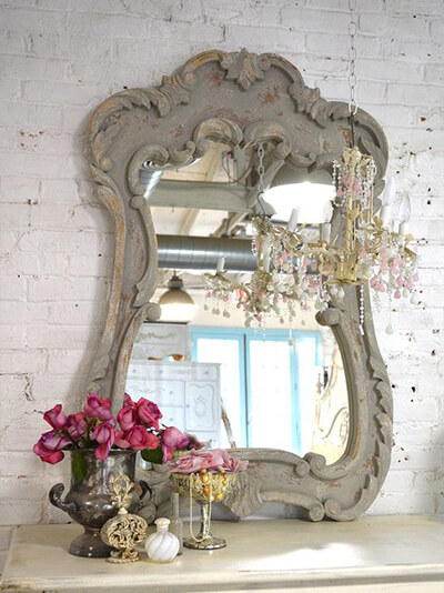 miroir décoshabby chic