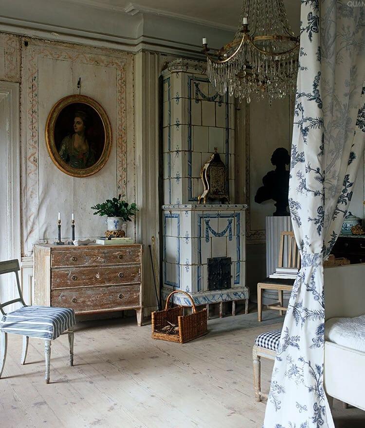 chambre au style gustavien