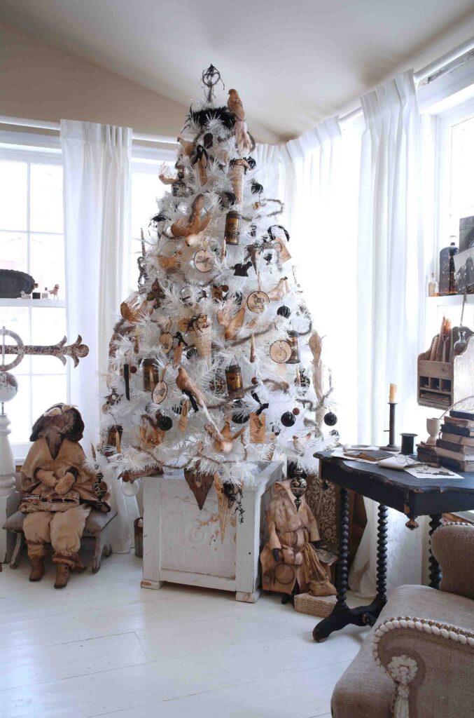 maison de Noël - sapin