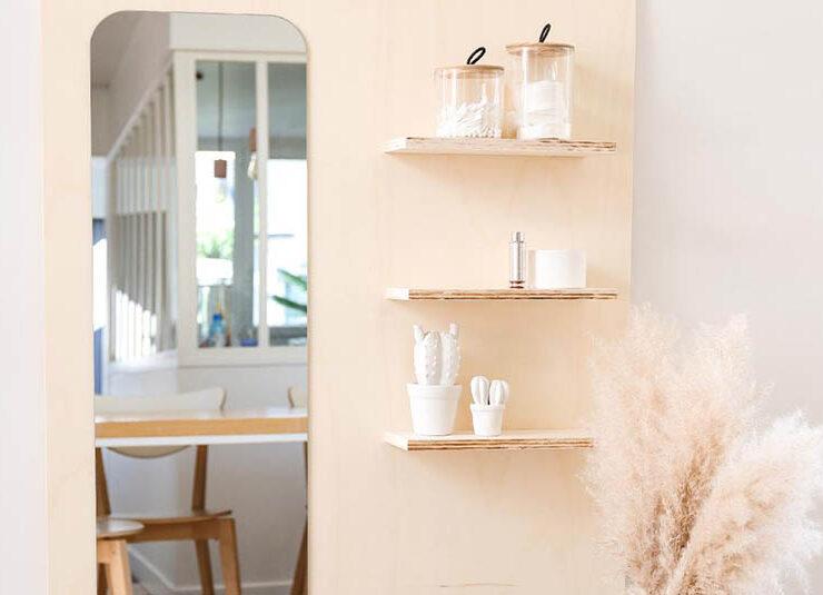 DIY meuble miroir