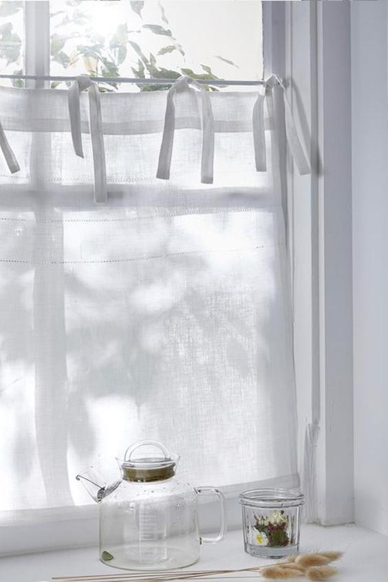 Rideaux brise-bise blanc
