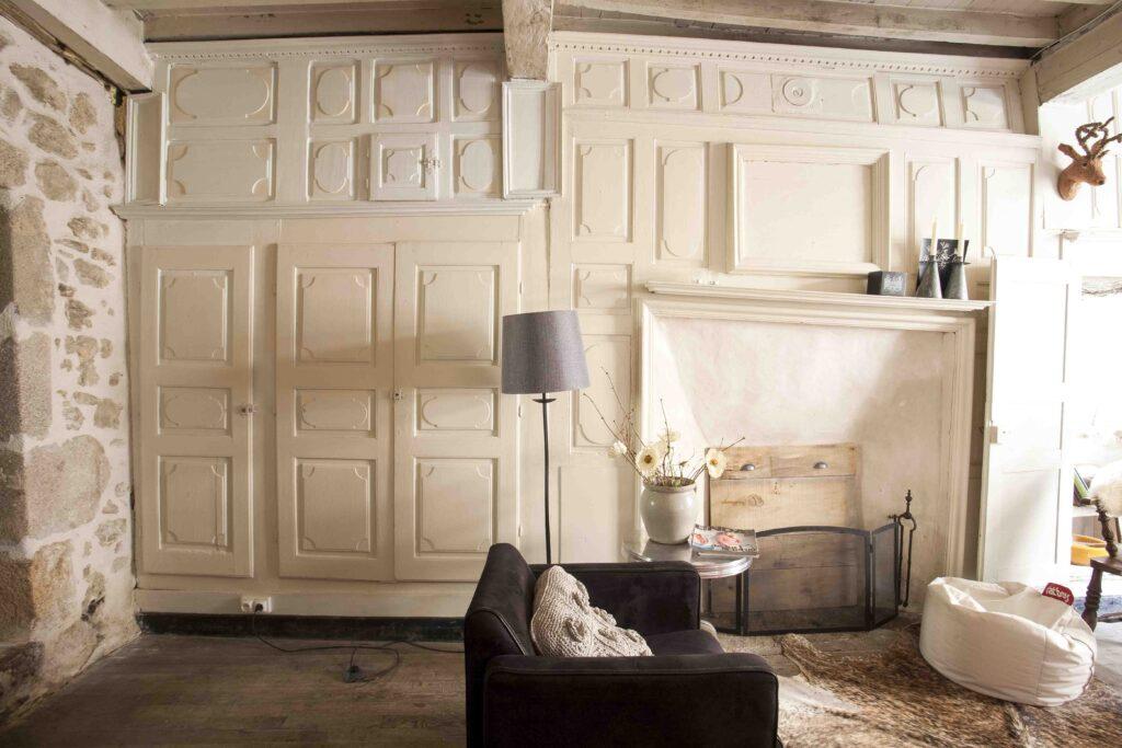 salon maison rustique