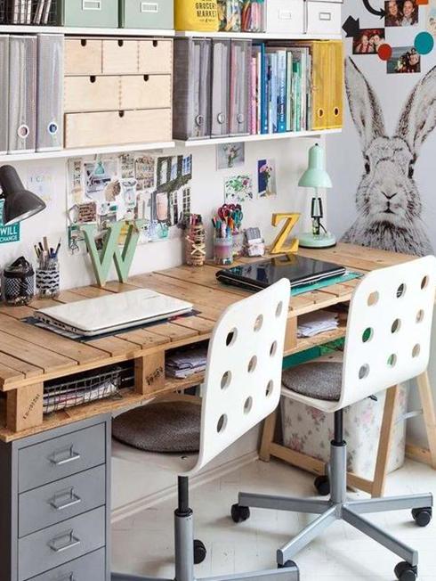 table bois recyclé chambre bureau