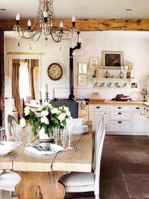 table bois recyclé salle à manger