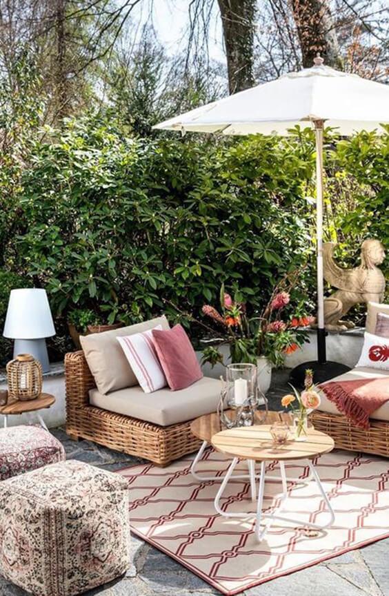 décorer son jardin avec des parasols