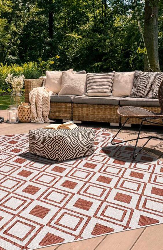 décorer son jardin avec un tapis